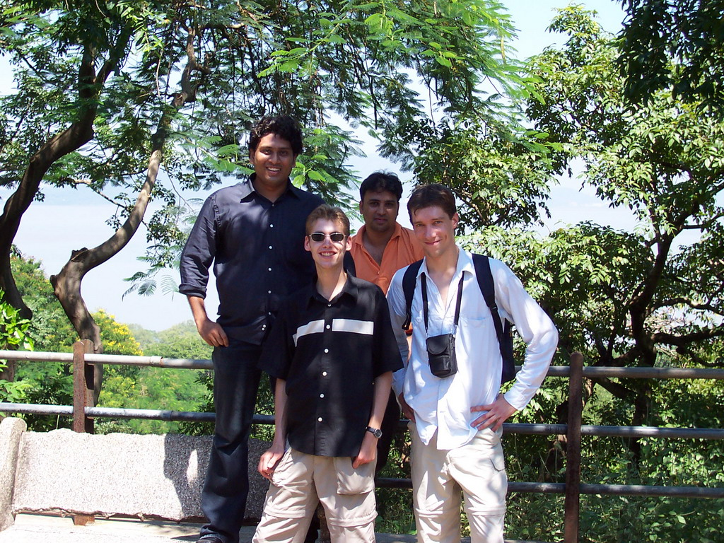Tim, Rick, Swapnil and Parag at Elephanta Island