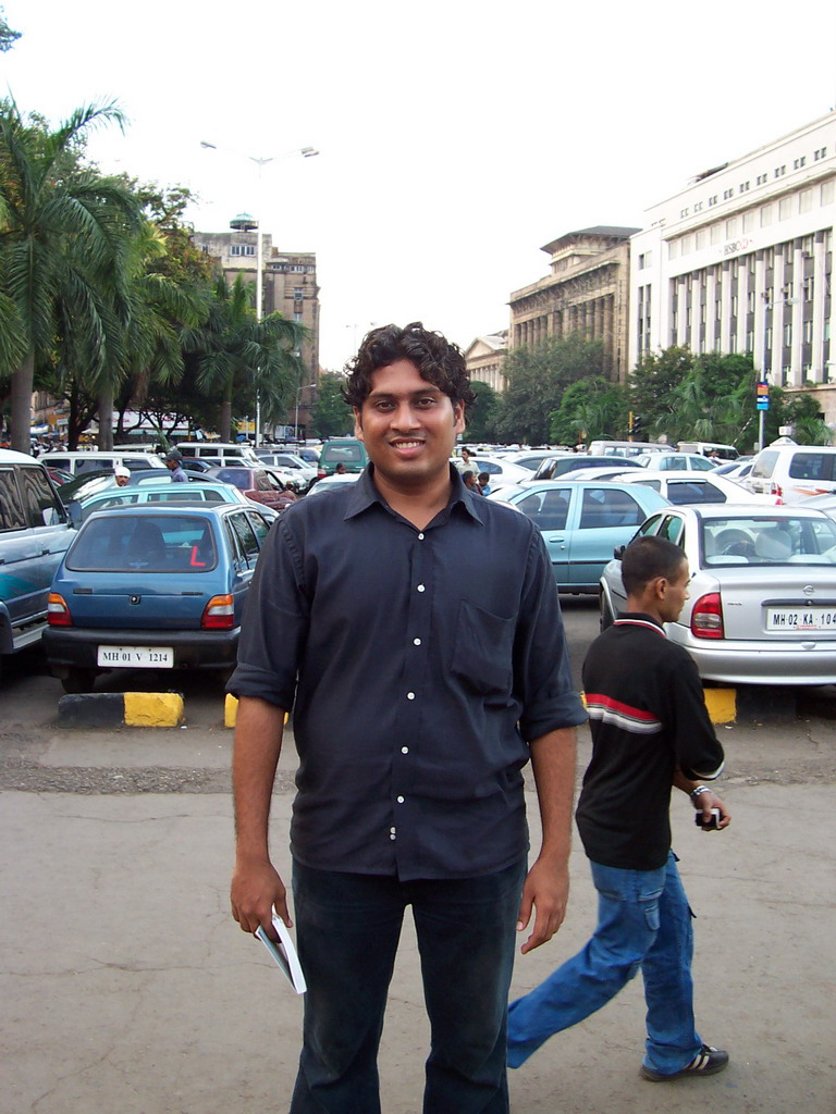 Swapnil at a parking place