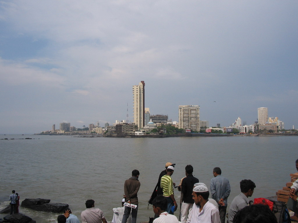 Skyline of Mumbai, from the Haji Ali Dargah mosque
