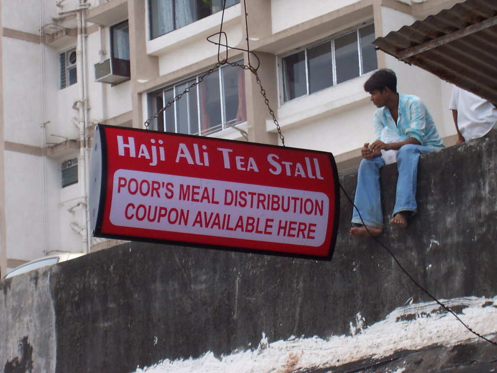 Sign of the Haji Ali Tea Stall