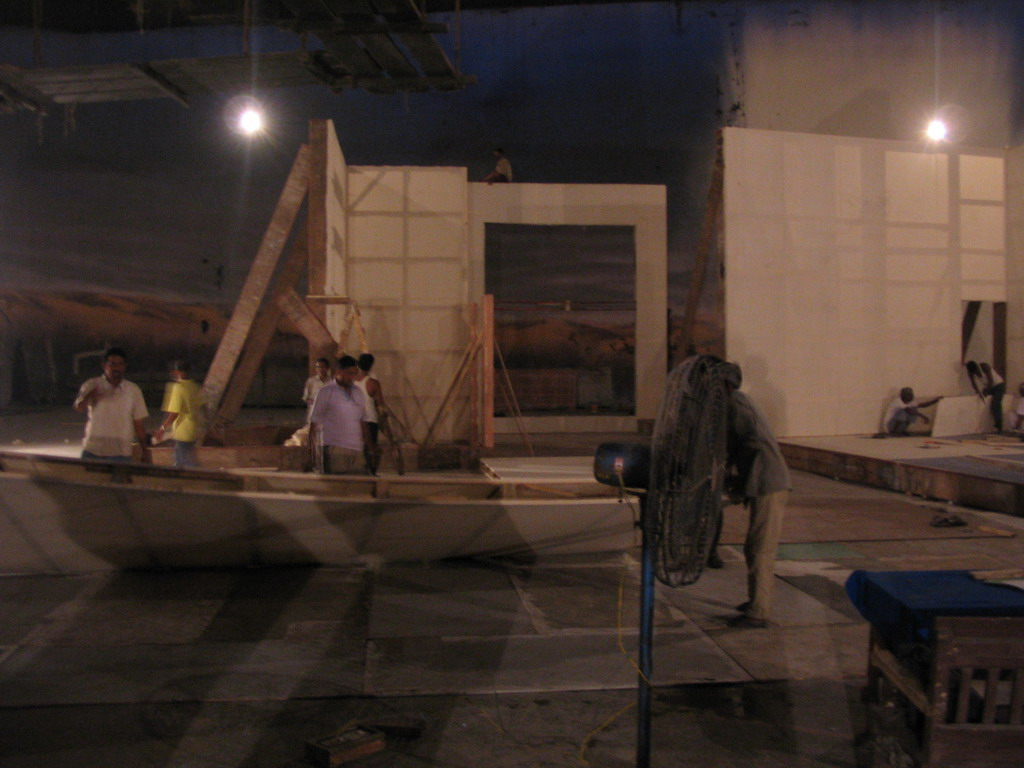 Bollywood film set