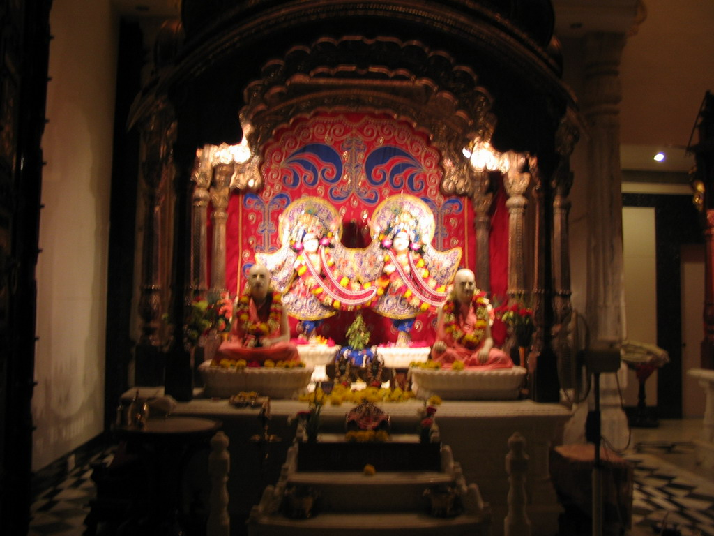 Inside the Hare Krishna temple