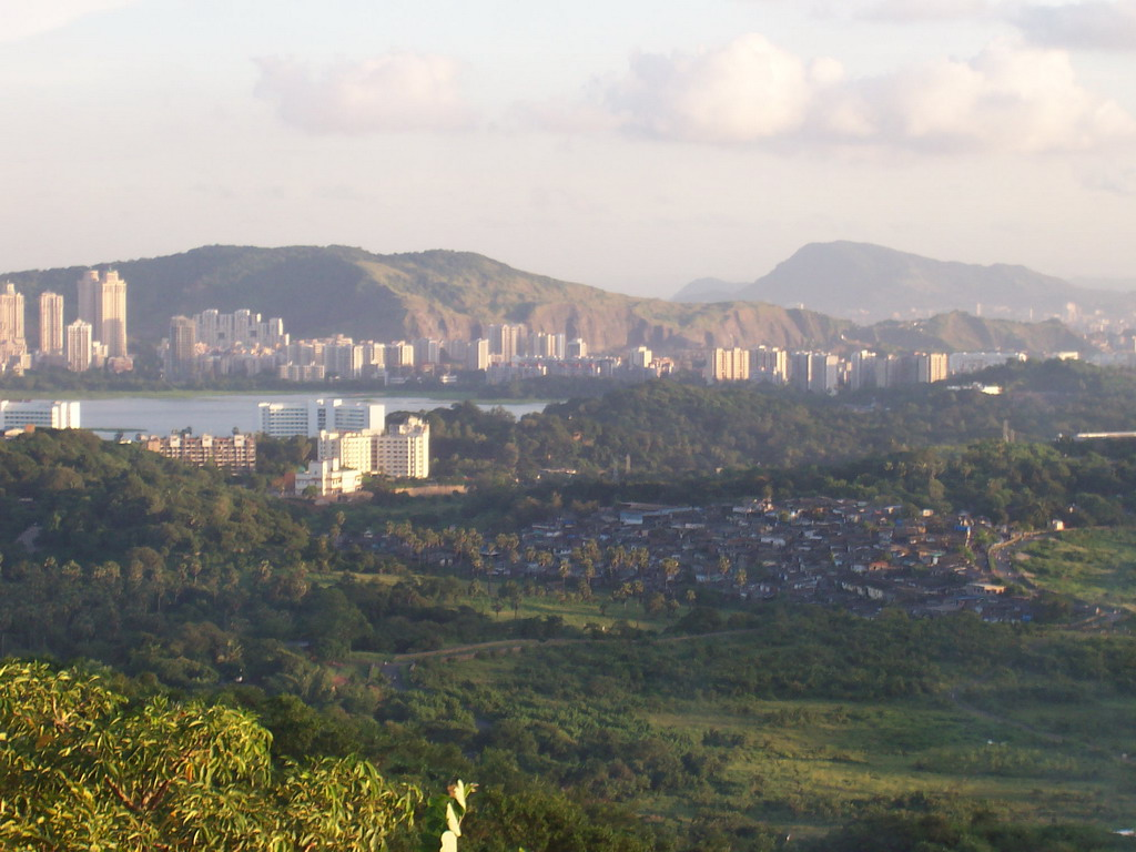 View on Mumbai from a hill near Film City