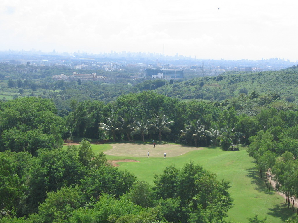 View on the city from a golf course near Mumbai