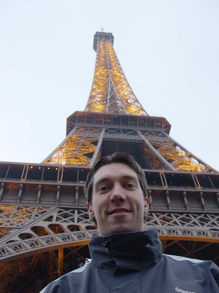 Tim and the Eiffel Tower