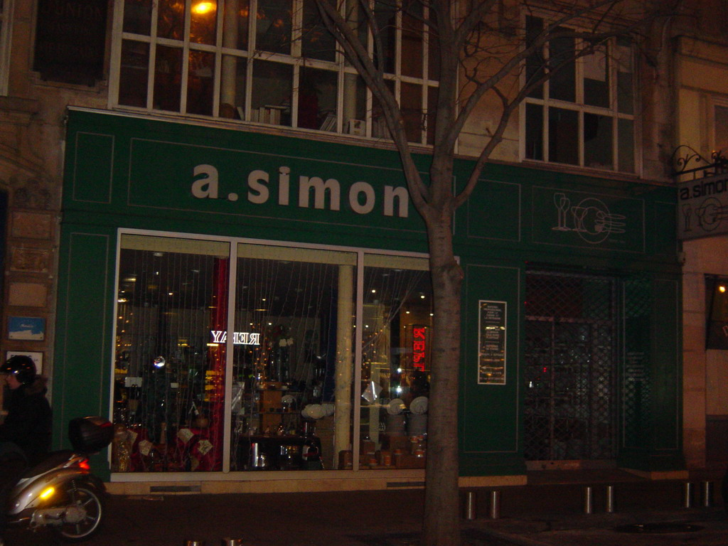 The restaurant A.simon, by night
