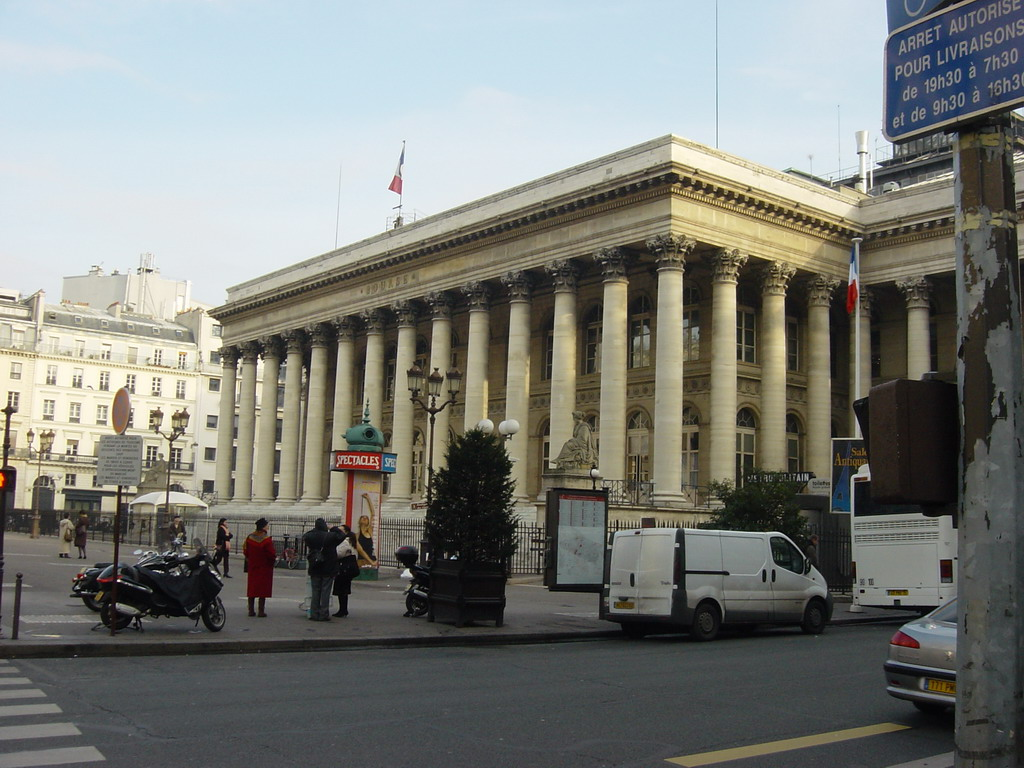 The Paris Bourse (stock exchange)
