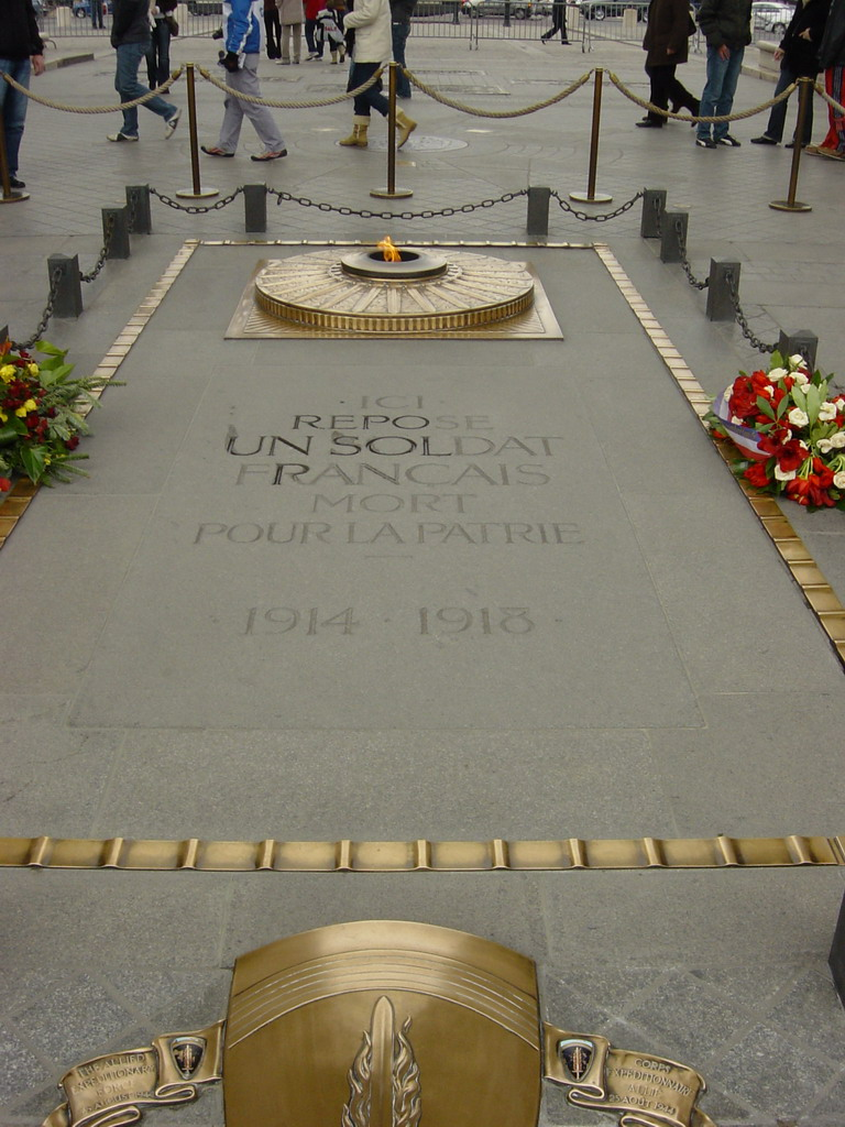 Tomb of the Unknown Soldier beneath the Arc de Triomphe