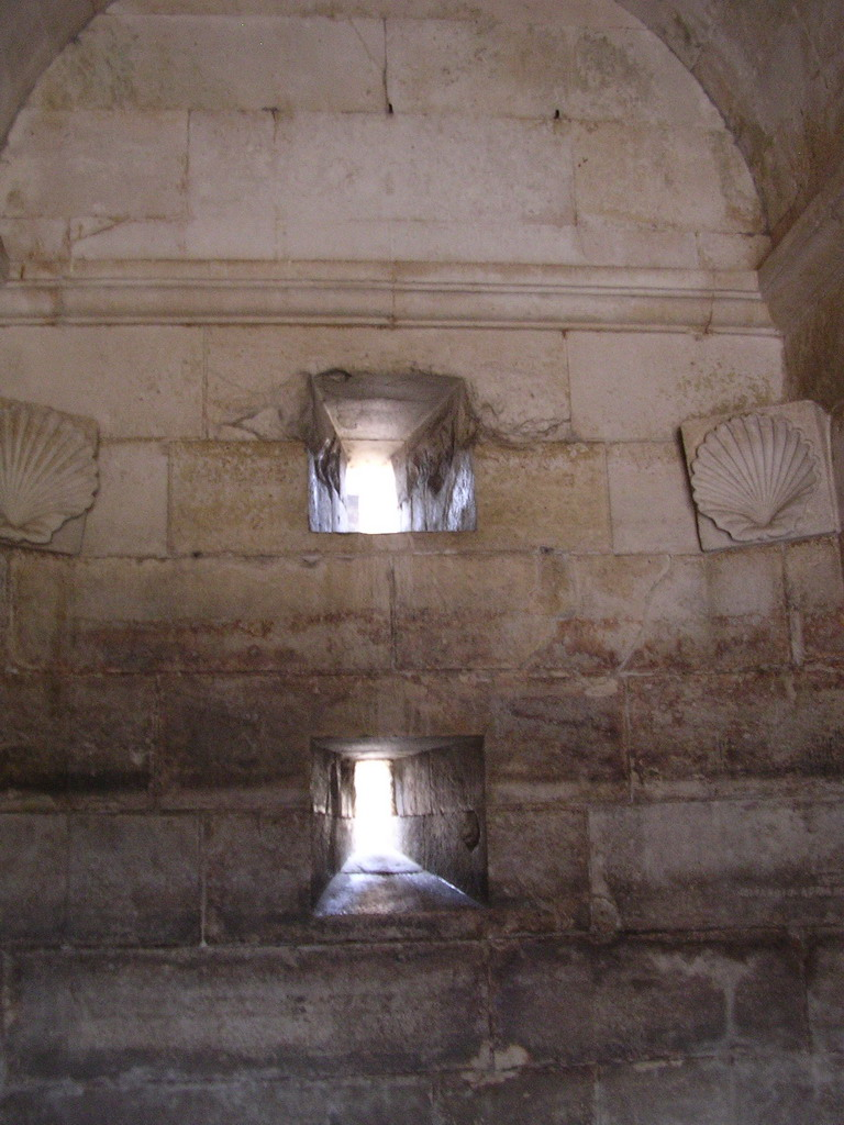 Windows and reliefs at the Mausoleum of Theodoric