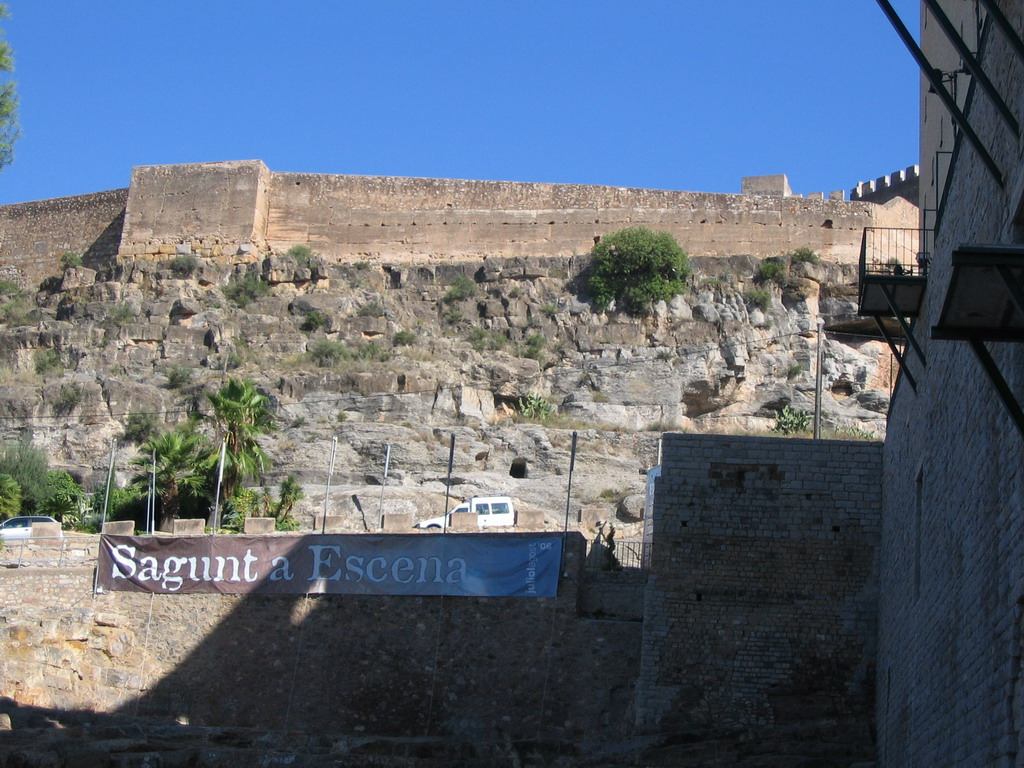 Entrance to the Roman Theatre, and the Citadel