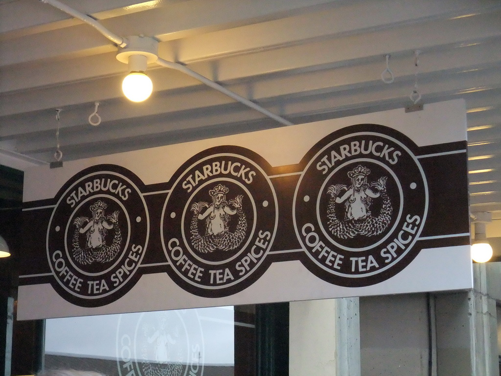 Original Starbucks logo at the