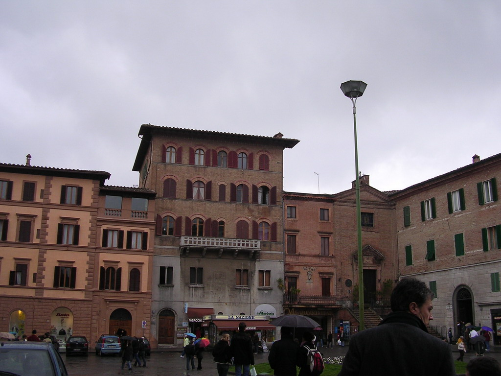 The south side of the Piazza Giacomo Matteotti square