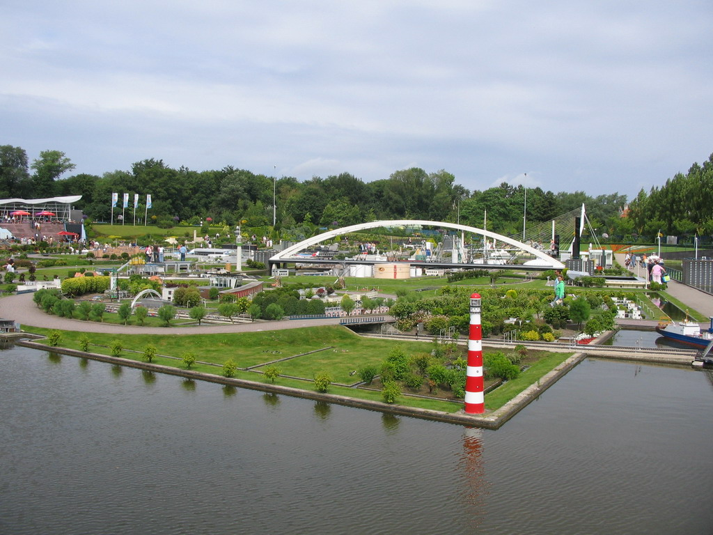 The southeast side of the Madurodam miniature park, viewed from the entrance