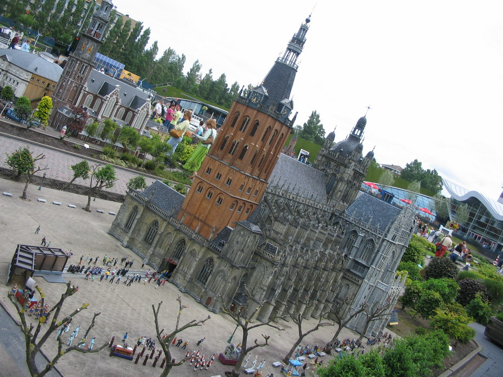 Scale model of the St. John`s Cathedral of Den Bosch at the Madurodam miniature park