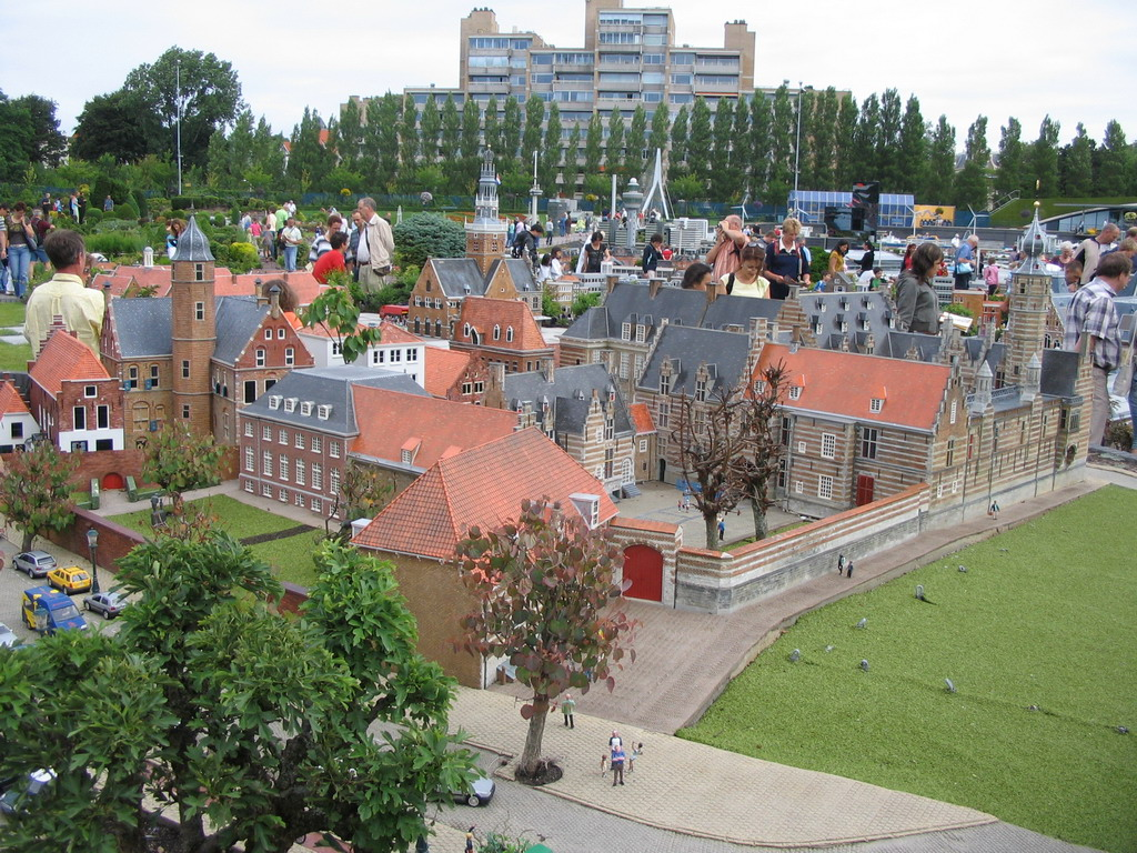 Scale models of the Markiezenhof of Bergen op Zoom and other buildings at the Madurodam miniature park