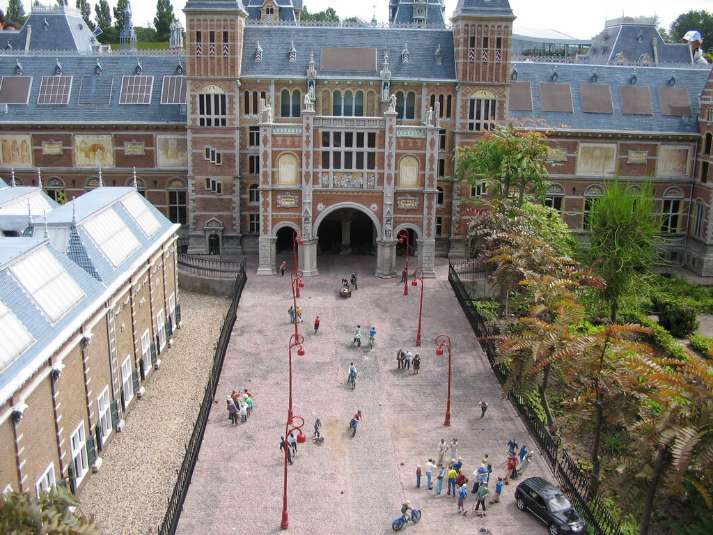 Scale model of the Rijksmuseum of Amsterdam at the Madurodam miniature park