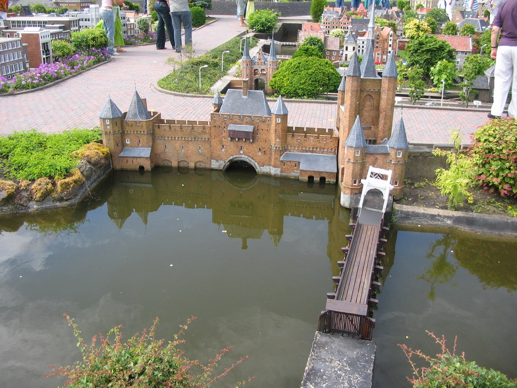 Scale model of the Amsterdamse Poort gate of Haarlem at the Madurodam miniature park
