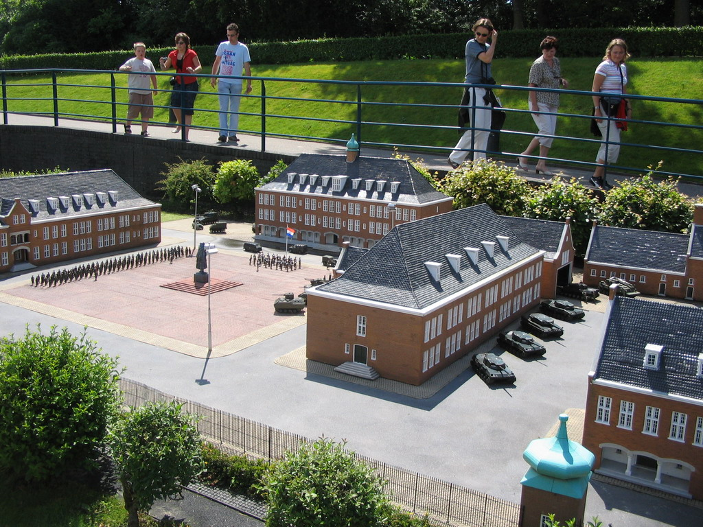 Scale model of the Koning Willem I Kazerne building of Den Bosch at the Madurodam miniature park