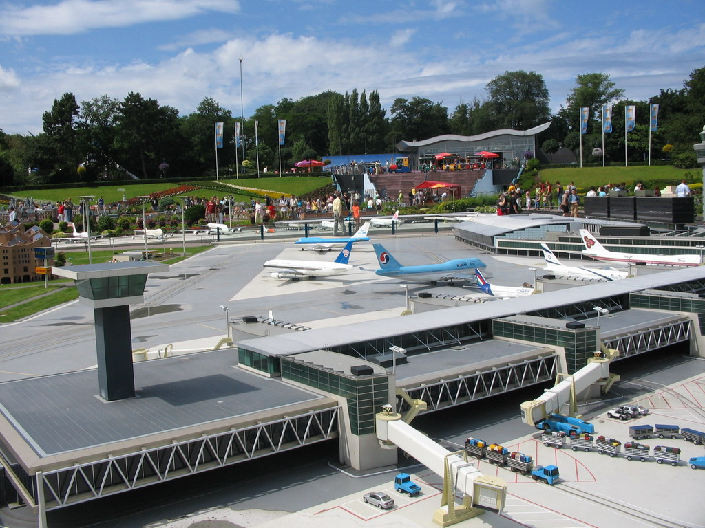 Scale model of Schiphol Airport at the Madurodam miniature park