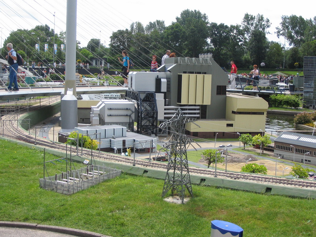Scale model of the Electrabel Power Plant of Nijmegen at the Madurodam miniature park