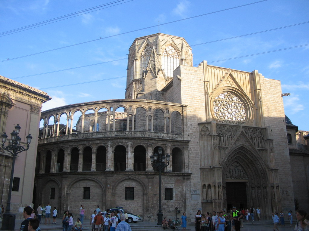 Northwest side of the Valencia Cathedral at the Pla�a de la Mare de D�u square