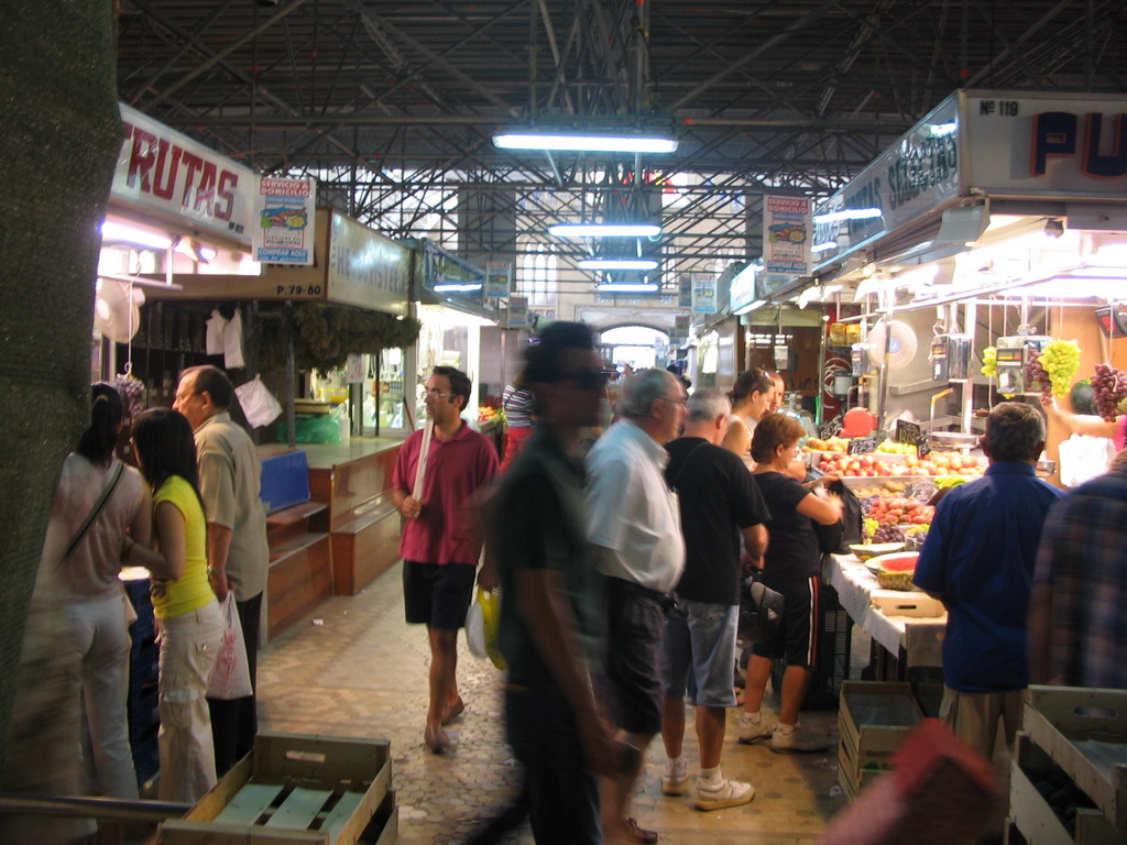 Food stalls at the Mercado Central market