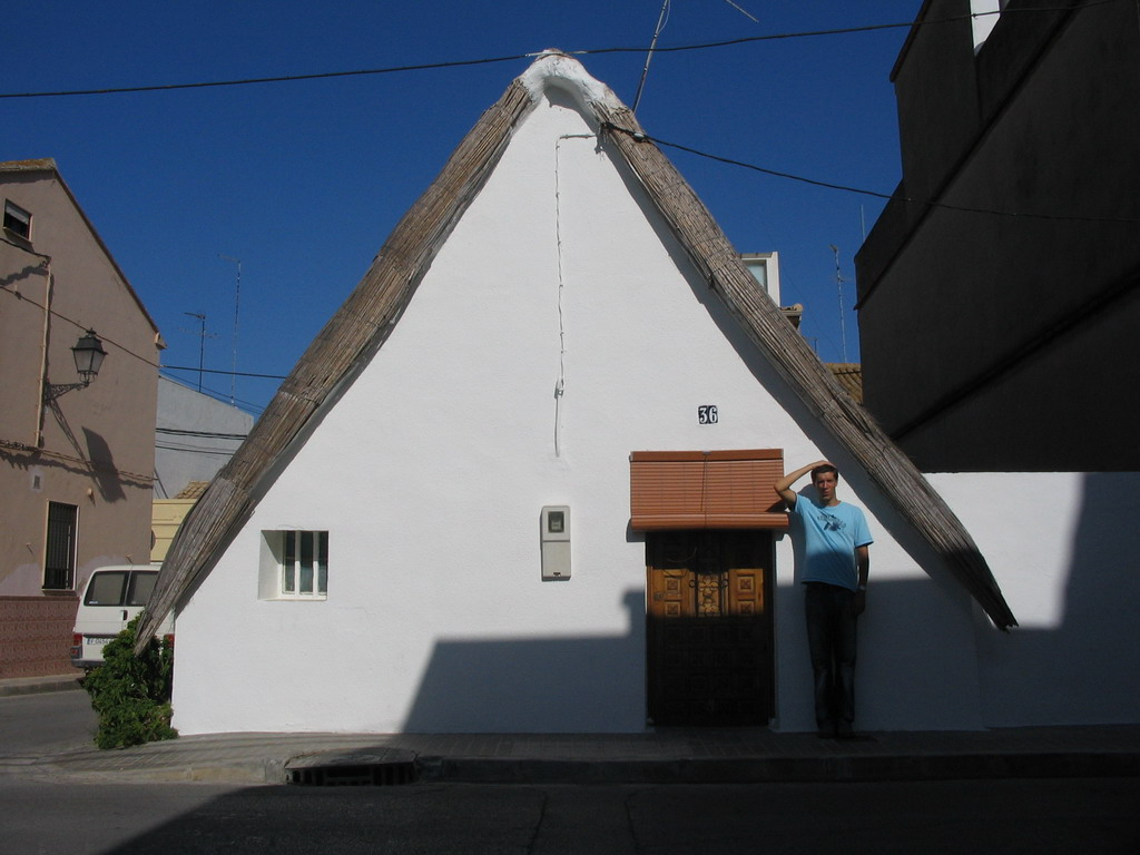 Tim in front of a house at the south side of the city