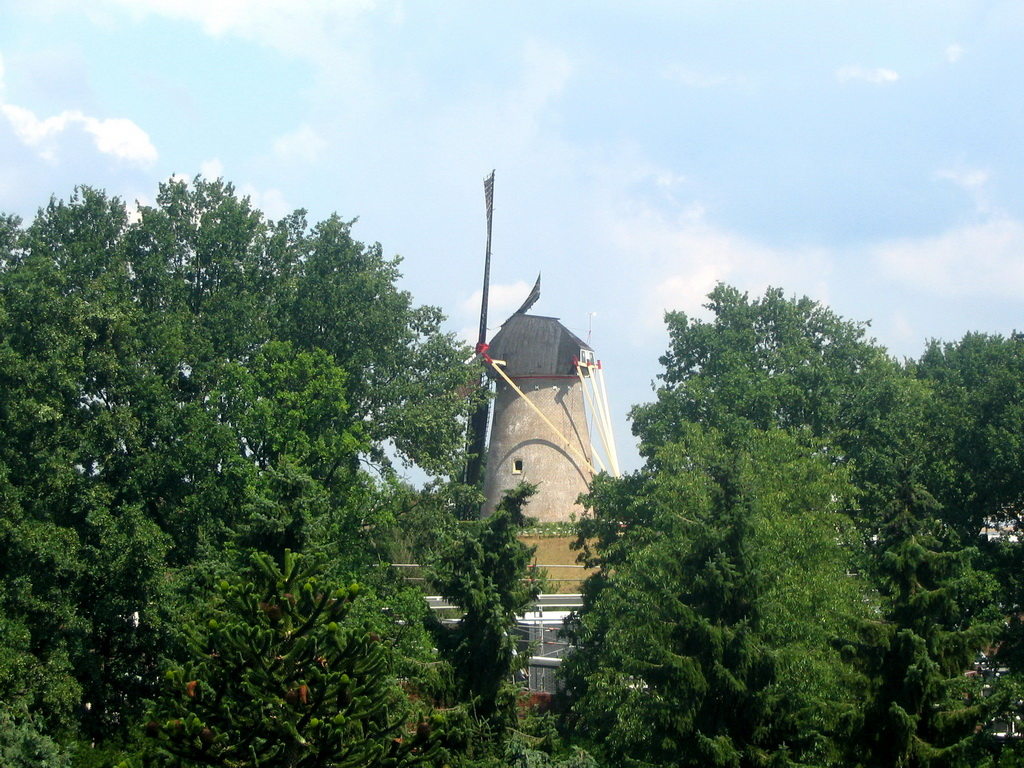 The Wijchense Molen windmill, viewed from Wijchen Castle